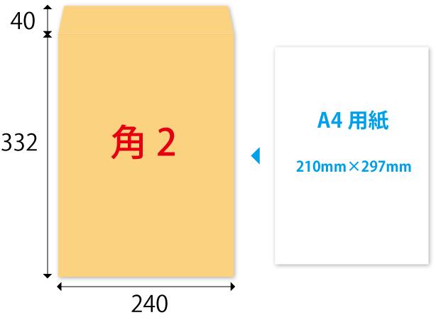 2 封筒 角形 号